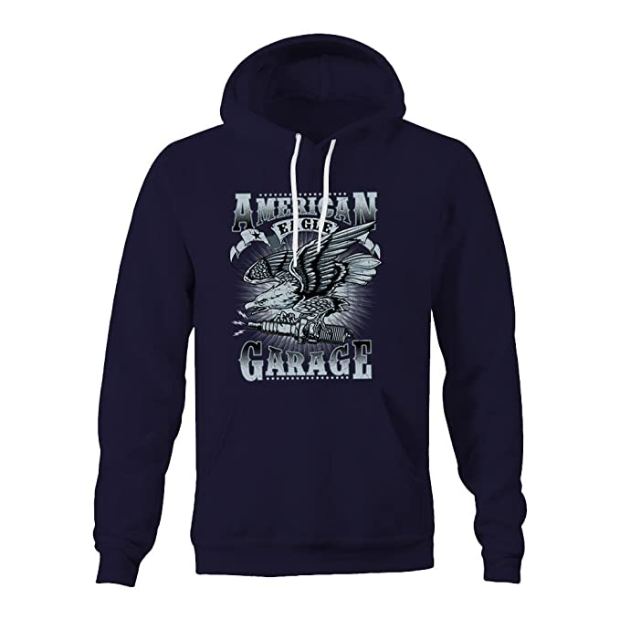 American Eagle Garage Ladies Hoodie - Navy - Medium: Amazon.es: Ropa y accesorios