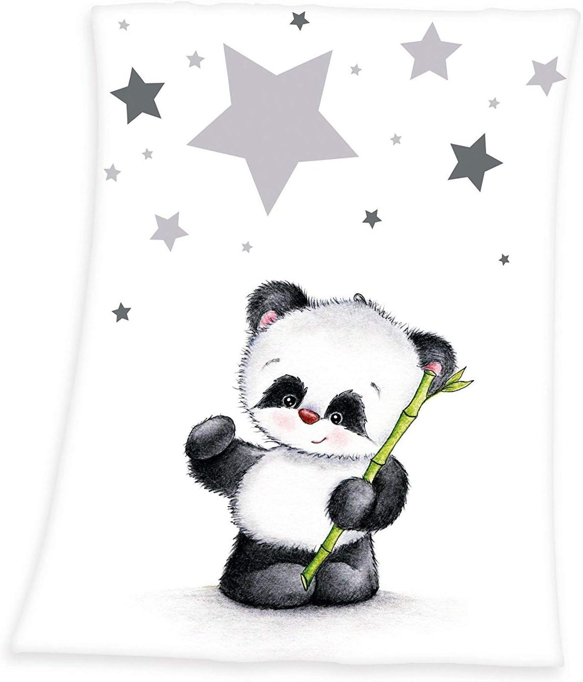 Winnie Puuh Flauschdecke Babydecke 75x100 weiß grau Winnie Pooh