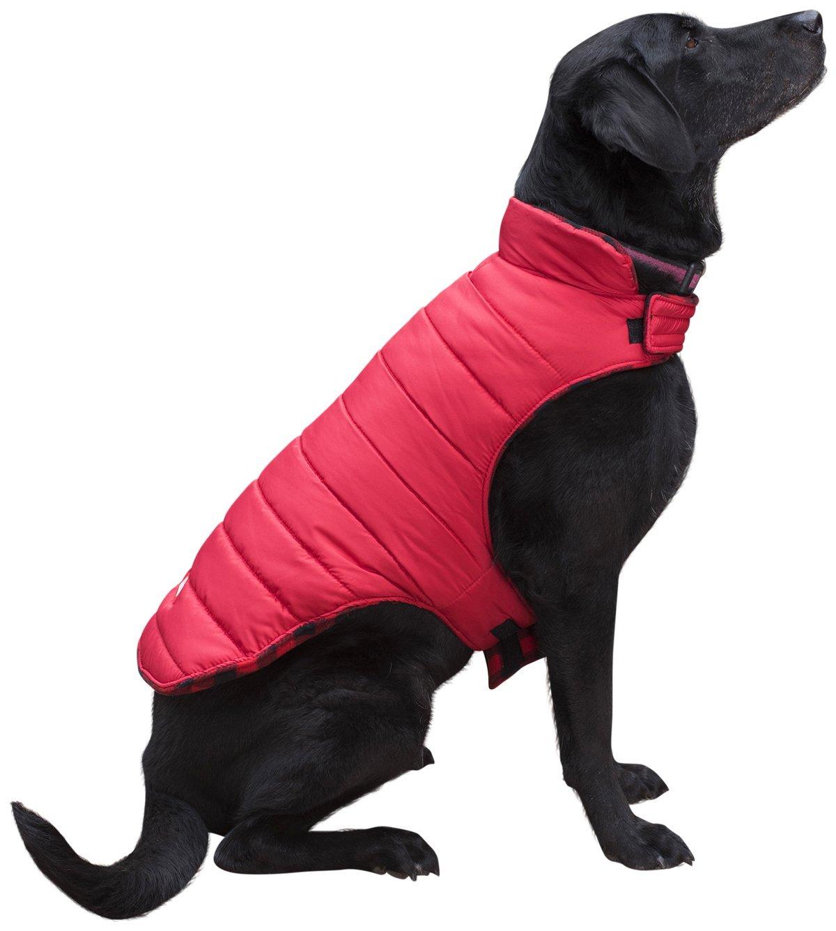 Coleman Dog Reversible Fleece Jacket, Red, X-Large - 22.5'''