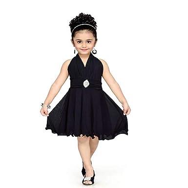 087baeca78 Red Eye Black Color Unique Knee Length Kids Dress: Amazon.in ...
