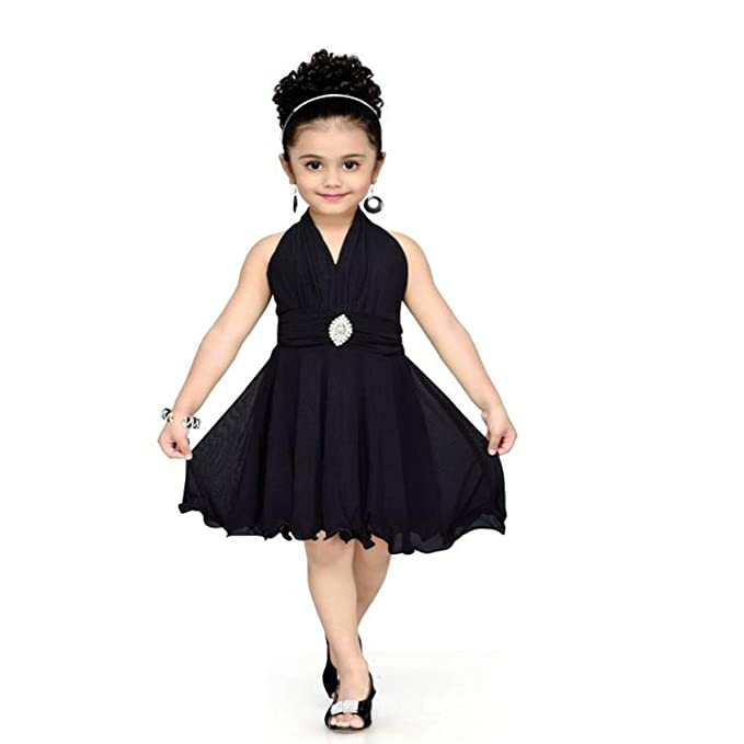 3050abe204 Red Eye Black Color Unique Stylish Party wear Knee Length Kids Dress (0-6