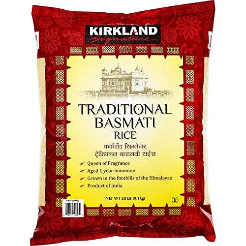 (Kirkland Signatures Traditional Basmati Rice 20 lbs 9.1 Kilogram)