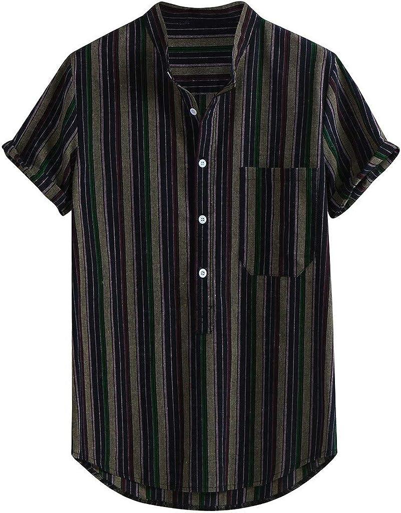 MEIbax Camisa para Hombres de Vestir Transpirable Manga