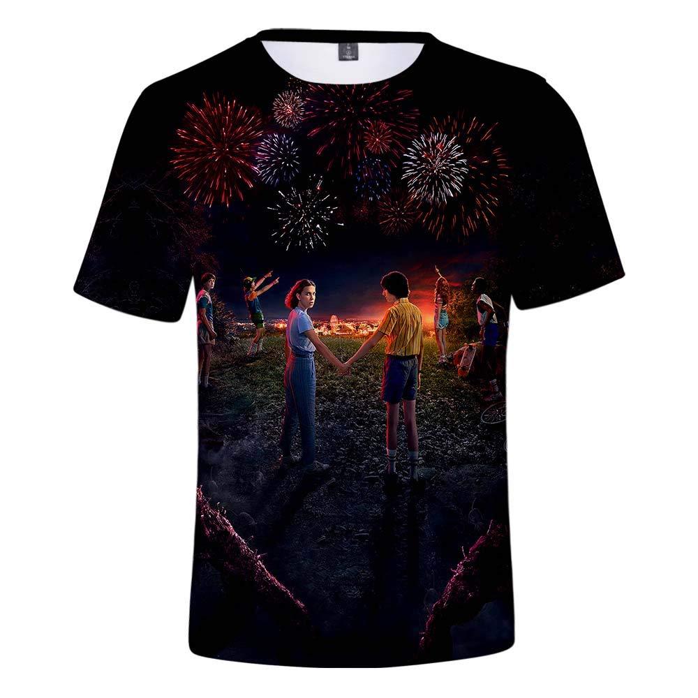 ZIGJOY Strangers Saison 3 T-Shirt Unisexe Tee Top imprim/é en 3D Un /ét/é Peut Changer Tout Le Film