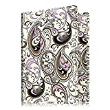 Fintie Passport Holder Travel Wallet - Premium Vegan Leather RFID Blocking Case Cover - Securely Holds Passport, Business Cards, Credit Cards, Boarding Passes, Paisley Waves