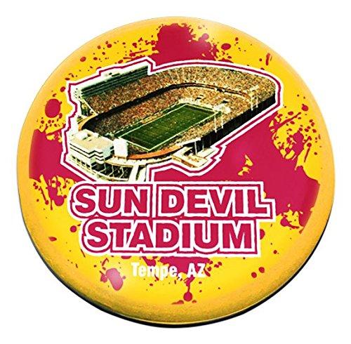(NCAA Arizona State Sun Devils Half Moon Crystal Magnet, 2