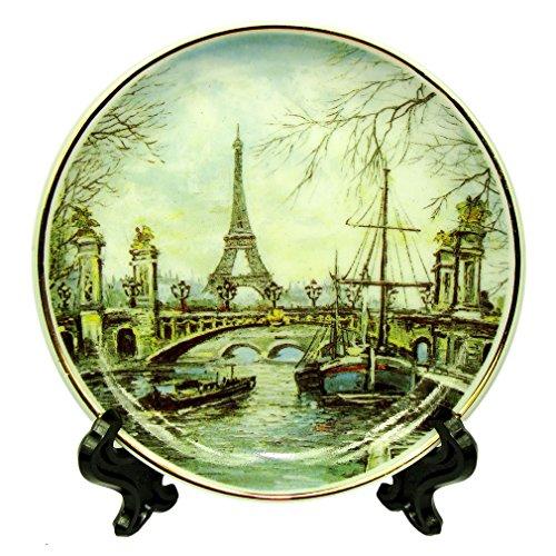 (Souvenirs of France - Paris Eiffel Tower Mini Plate)