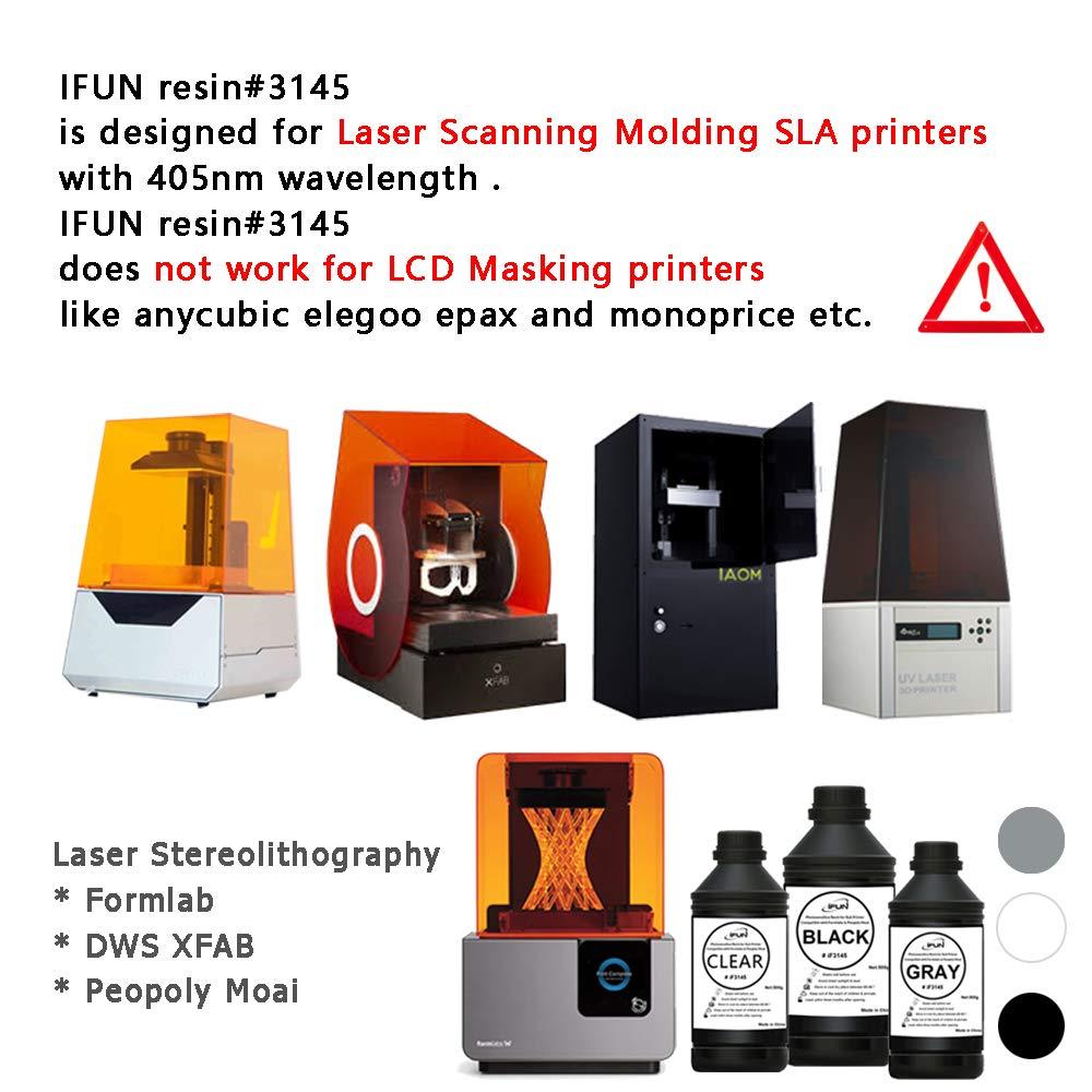 IFUN - Resina 3D para impresora SLA compatible con Formlabs ...