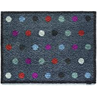 Bosmere Hug Rug Eco-Friendly Absorbent Dirt Trapping Indoor Washable Mat, 25.5 x 33.5, Blue