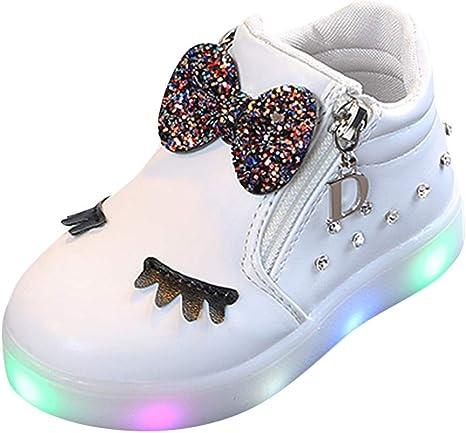Zapatos De Bebé NiñO NiñA,ZARLLE Led Luz Luminosas Flash