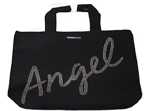 Amazon Com Victoria S Secret Black Tote Bag Clothing
