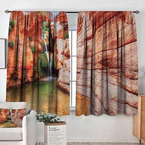 (Mozenou Americana Room Darkening Curtains Elves Chasm Colorado River Plateau Creek Grand Canyon Image Print Kid Blackout Curtains 55