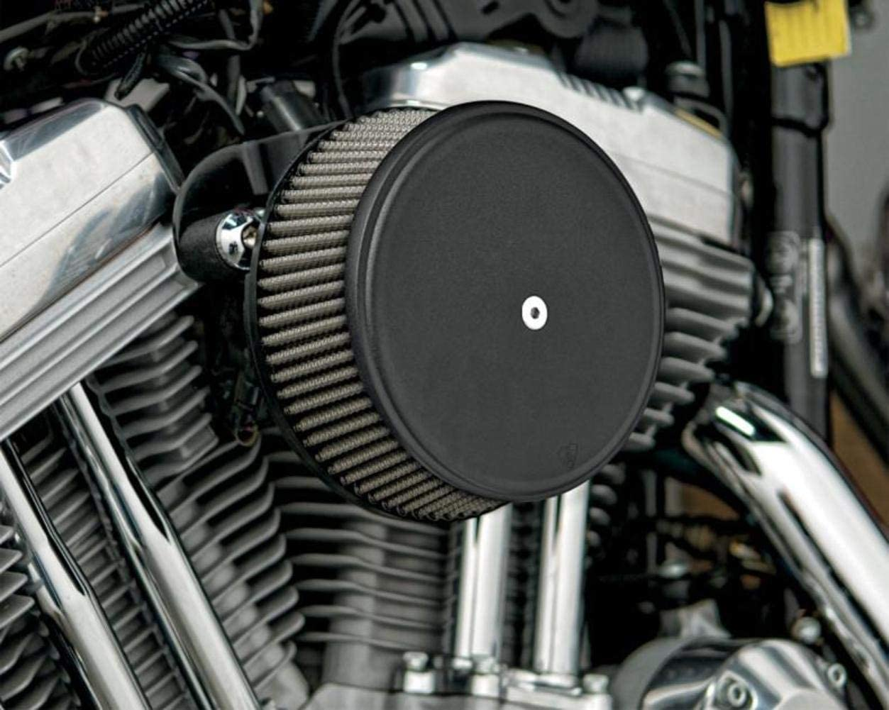 Arlen Ness 18-329 Black Big Sucker Stage I Air Filter Kit with Cover