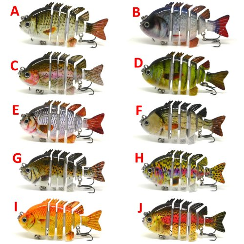 3-Crazy-Panfish-Series-Multi-Jointed-Fishing-Hard-Lure-Bait-Swimbait-Life-like