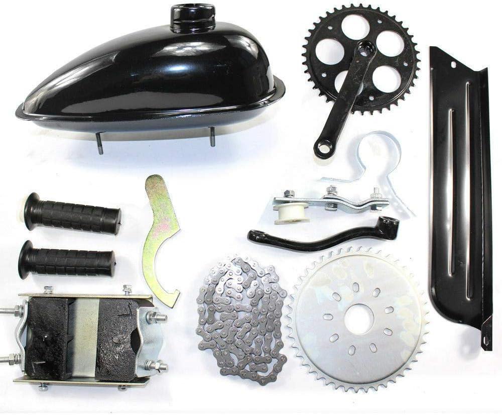US SHIP 4-Stroke 49CC 2.1HP Gas Petrol Motorized Bicycle Engine Motor Kit Scooter Bike Engine Motor Kit Chain Drive Chain Drive//Belt Drive