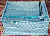 Mufaddal Traders (12 PC) Oneside Clear Plastic Clothes Sari Saree Garment Storage, saree box cover Bags