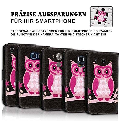 Wallet Book Style Flip Handy Tasche Case Schutz Hülle Schale Motiv Etui für Apple iPhone 6 / 6S - Design Flip MV207