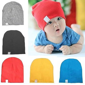 4189a9e2d6c Amazon.com  Cotton Toddler Unisex Cap Hats Newborn Beanies Baby ...