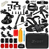 Shoot 31 in 1 Accessory Kit with Carrying Case for GoPro Hero 6/5/4/3+/3/5 Session/Hero(2018)/Fusion Campark AKASO DBPOWER Crosstour FITFORT Accessories