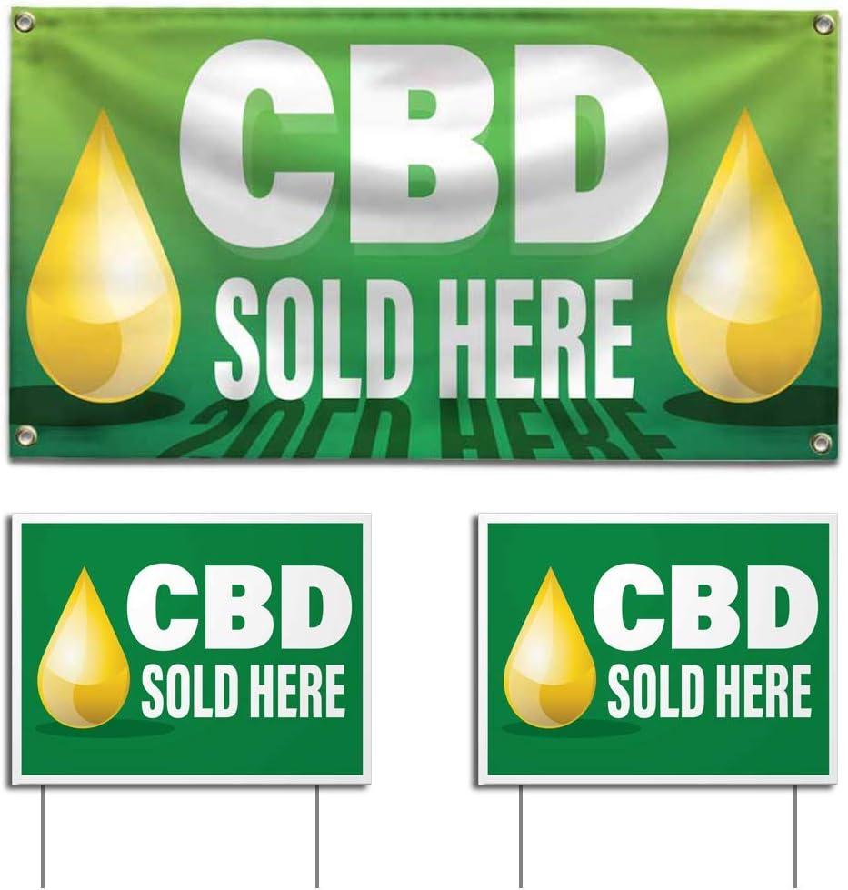 Amazon.com: Juego de carteles y carteles CBD se venden aquí ...