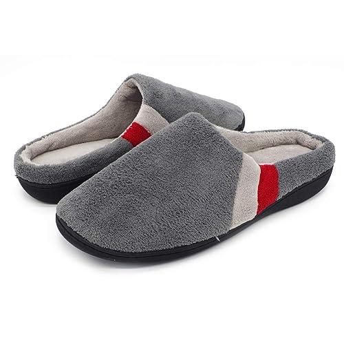 Pantofole per casa Uomo invernale Donna Comfort Warm Scarpe interne Soletta  interna in memory foam per 1d8e63c3093