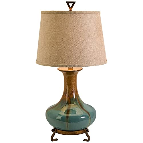 turquoise table lamp bedside imax 29561 kirkly ceramic table lamp turquoise lamps amazoncom