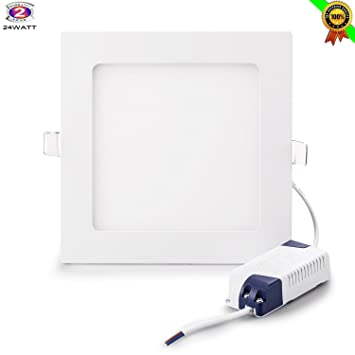 24w flat led panel light gianor ultrathin nondimmable square led recessed