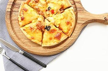 saflyse redonda Pizza Plato Pizza Piedra Panificadora ladrillo de madera para pizza y pan