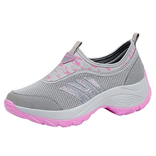 Sylar Mujer Zapatillas De Deporte Cuña Zapatos para Correr Plataforma Ligero Y Conveniente Suela Gruesa Zapatos para Caminar Zapatillas De Correr: ...