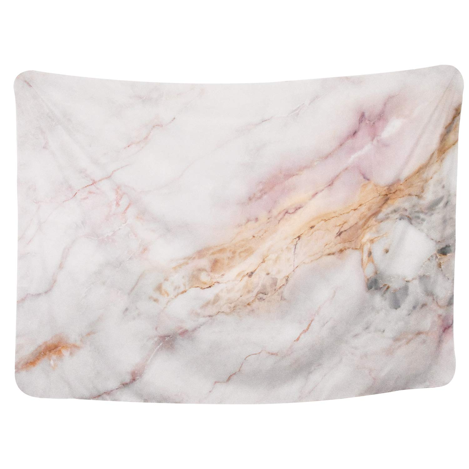 Yinhua Tapestry Marble Pattern Tapestry with Crack Wall Hanging Tapestry Decoration for Living Room Bedroom Dorm