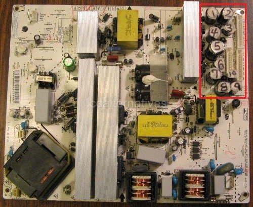LCD TV Repair Kit Not The Entire Board Capacitors LG 32LB9D