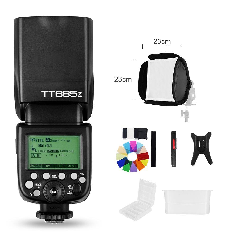 Godox TT685S 2.4G HSS 1/8000s i-TTL GN60 Wireless Speedlite Flash for Sony A77II A7RII A7R A58 A9 A99 A6300 A6500