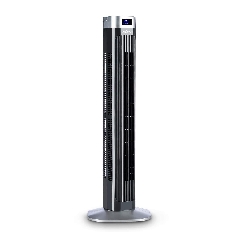 schwarz 3 Geschwindigkeiten, 50 Watt, 3 Modi: Normal + Nacht + Natur, Oszillation, Timer, Fernbedienung oneConcept Hightower 2G S/äulenventilator Standventilator Turmventilator