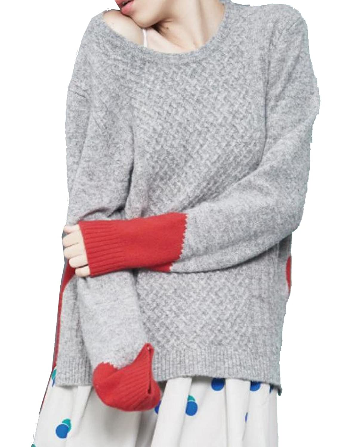 XTX Womens Two Toned Long Sleeve Pullover Sweater
