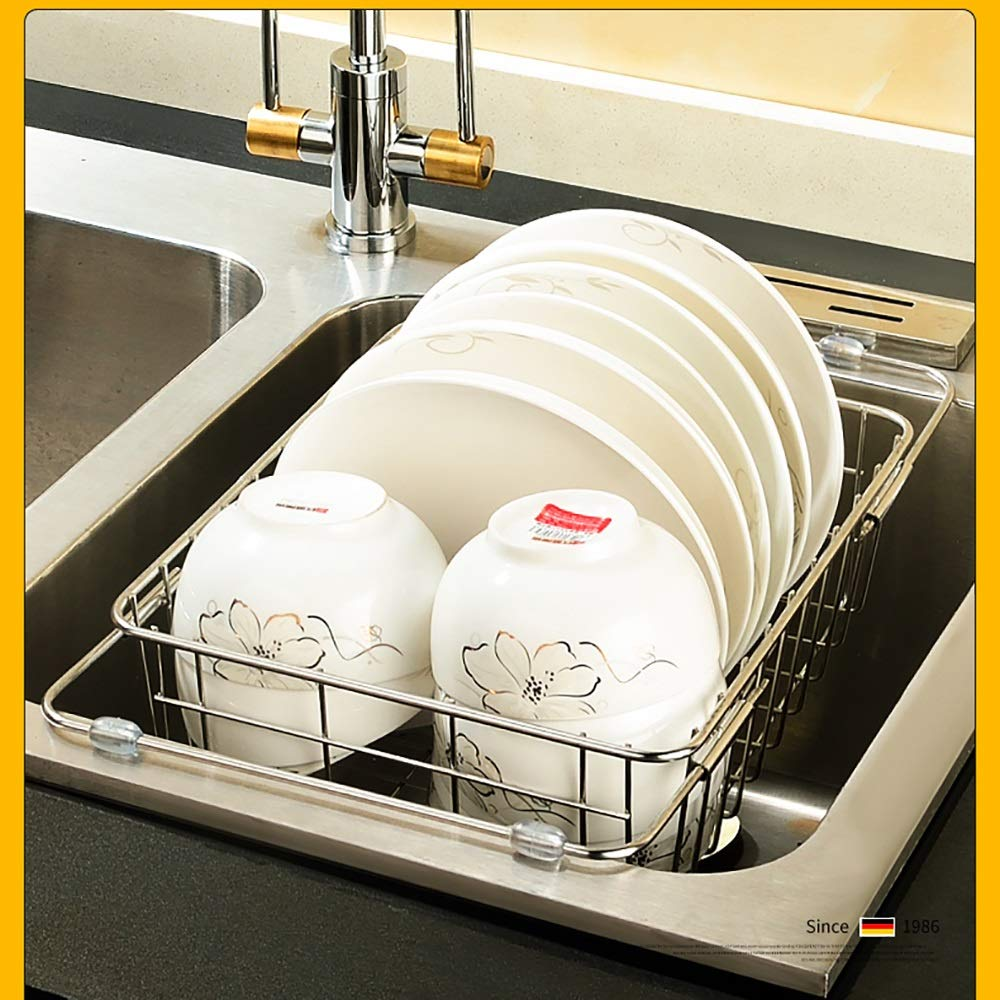 Stainless steel Housewares Under Shelf Storage Basket, kitchen shelf storage,39~45.5 cm (Size : B) by Guoqing (Image #4)