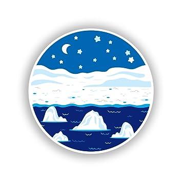 2 x Pegatinas de vinilo de Polo Norte viaje equipaje # 10716 ...