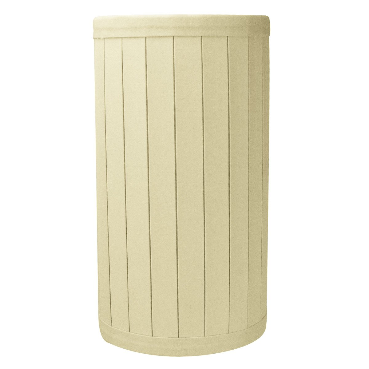 4x4x8 Off White Hardback UNO-Fitter Crisp Pleat Drum Lampshade by Home Concept - Perfect for Wall sconces -Small, Egg Shell