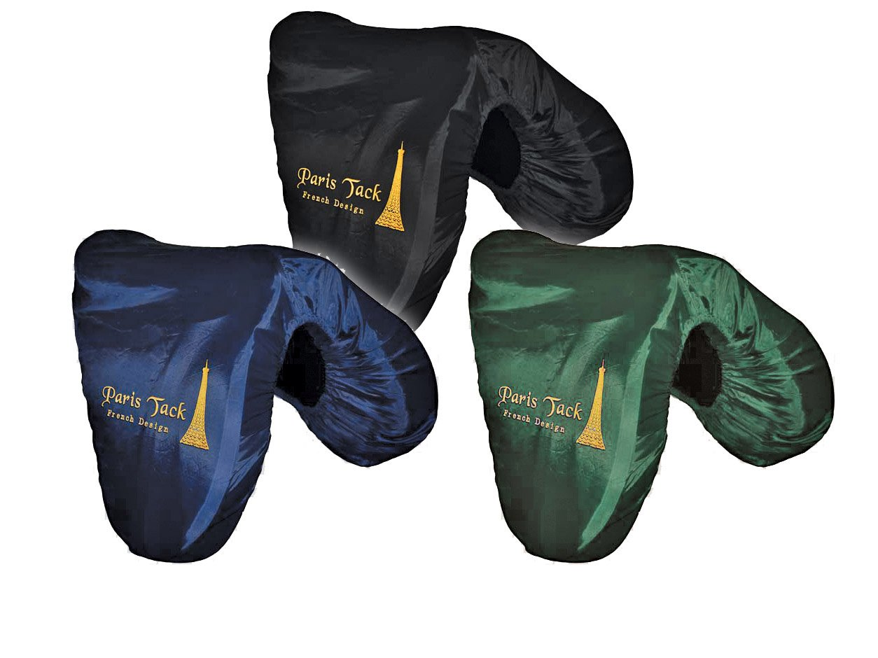 Paris Premium Embroidered Nylon All Purpose English Saddle Cover - Protects Saddles from Dust, Debris, and Damage - Fits Most Sizes and Styles of English Saddles - Multiple Colors Available by Paris Tack