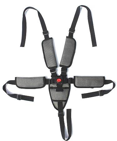 Universal Adjustable Replacement Straps Safety Harness Belt for Stroller High Chair Pram Buggy Car Children Kid Pushchair Baby 5 Point Seatbelt