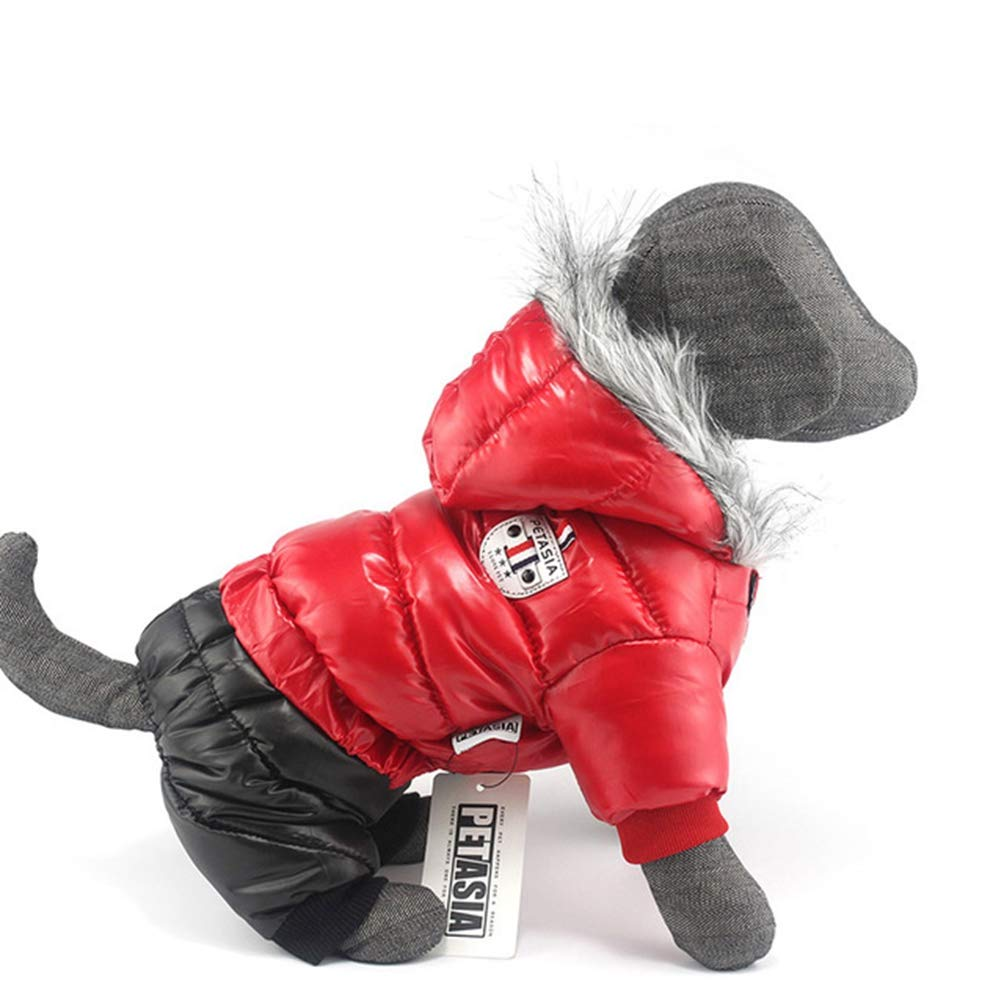 Red M Red M Jim Hugh Dog Coat Pet Dog Clothes Waterproof Fabric Thickening Dog Jacket Super Warm Snow Coat Clothing