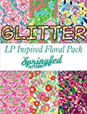 LP Inspired FLORAL Prints GLITTER HTV Heat Transfer Vinyl Pattern Pack #1 Six Patterns 12x18!