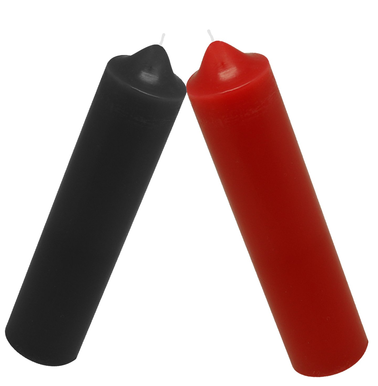Low Temperature Candles,Romantic Candles for Couples (2PCS) (Black+Red)