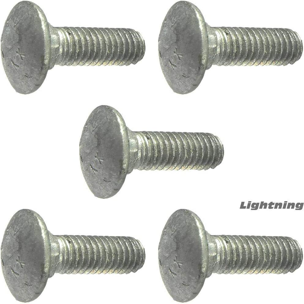1//2-13 x 13 Carriage Bolts and Nuts Hot Dip Galvanized Quantity 25