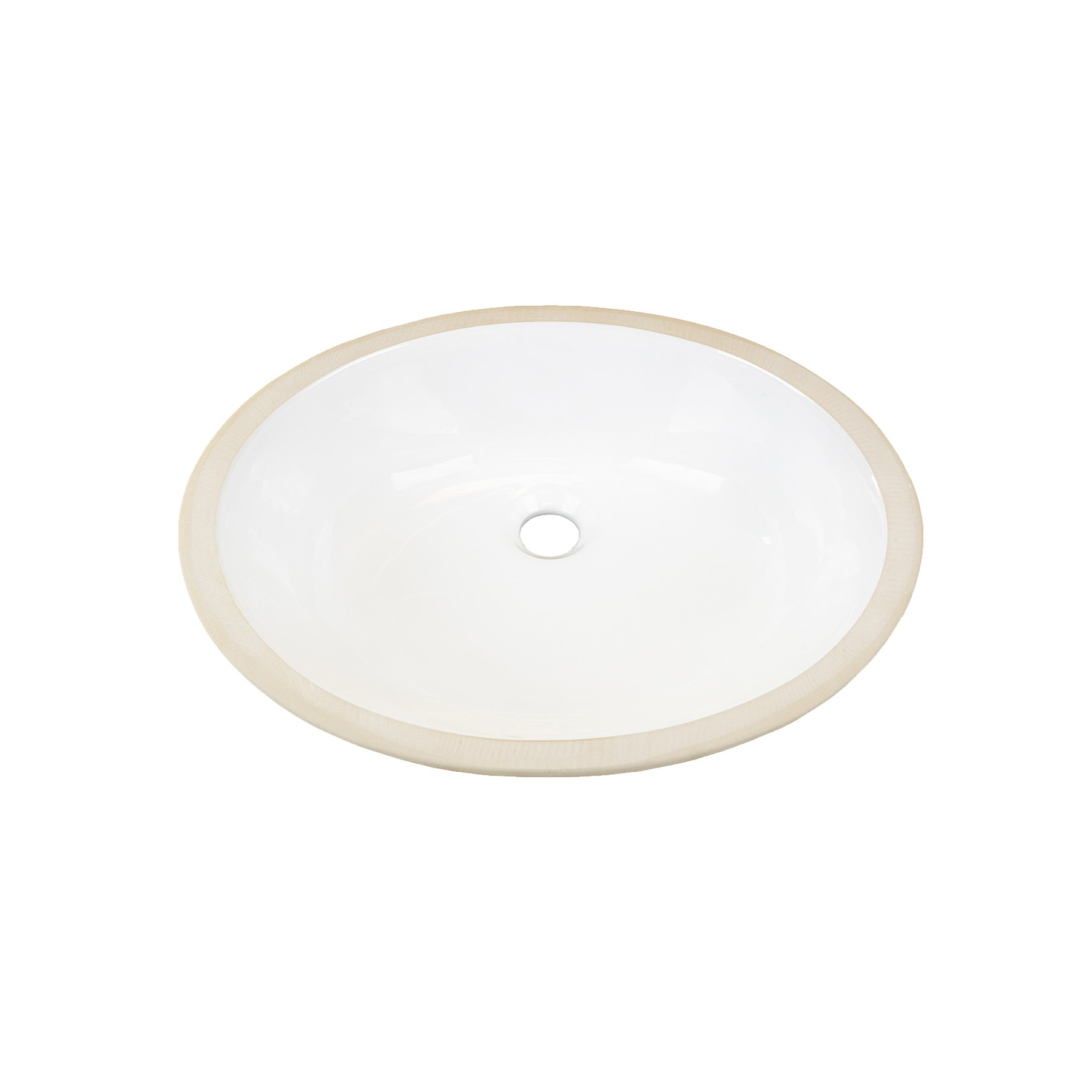 MAYKKE Landon Ceramic Undermount 19.5'' by 16.5'' Oval Bathroom Vanity Sink Only | With Overflow, For Vanity Cabinet Countertop, cUPC Certified | White YSA1081701 by Maykke