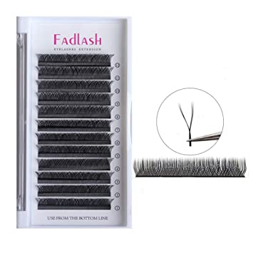 965b1cba8a2 Amazon.com : Volume Lash Extensions D Curl 0.07mm 12mm YY Individual Lashes  Matte Faux Mink False Eyelashes Clusters Professional Flare Lashes Knot-free  : ...