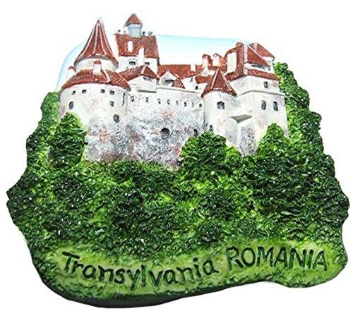 Bran Castle (Dracula's), Transylvania, ROMANIA Souvenir Fridge Magnet Toy Set 3D Resin Collection ()