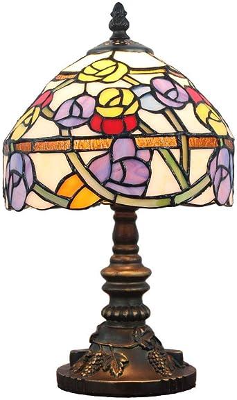 Lámparas de mesa Tiffany vintage, (8 pulgadas) Retro Multicolor ...