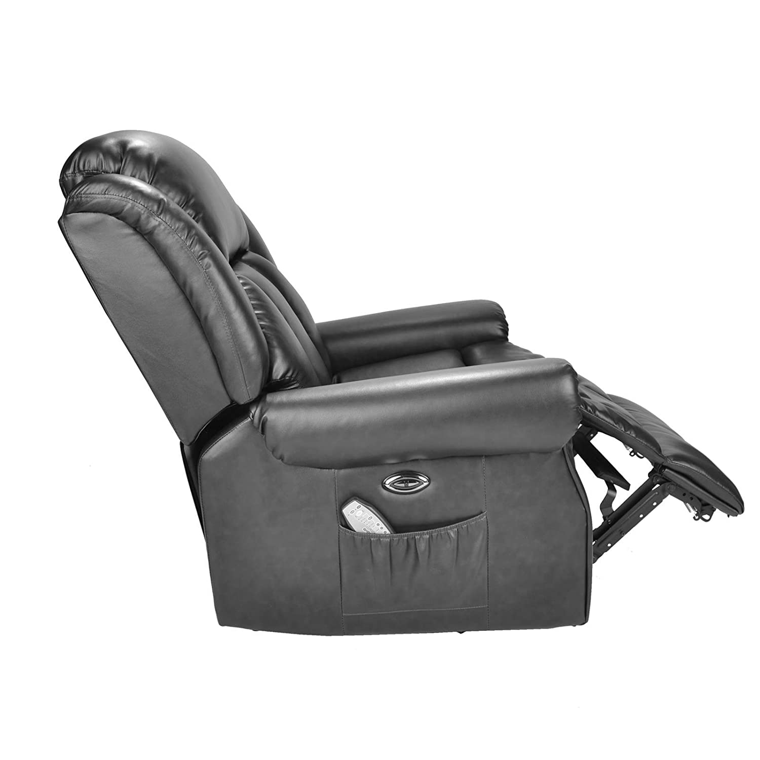 Hainworth Leather Electric powered recliner chair with heat and