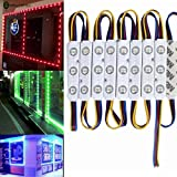 60Leds Decorative Led Light Fixtures Weather-resistant 12V 5050 RGB Injection Module Light with Led Project Lens for Shop Bars Led Sign Caravan Exterior Lighting