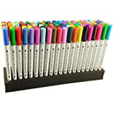 Dual Tip Marker Pens 100 Colors, GC Quill Dual Brush Pen Set with Fineliner Tip 0.4, Non-Toxic Watercolor for Painting Coloring, Drawing, Sketching, Lettering, Calligraphy & Manga